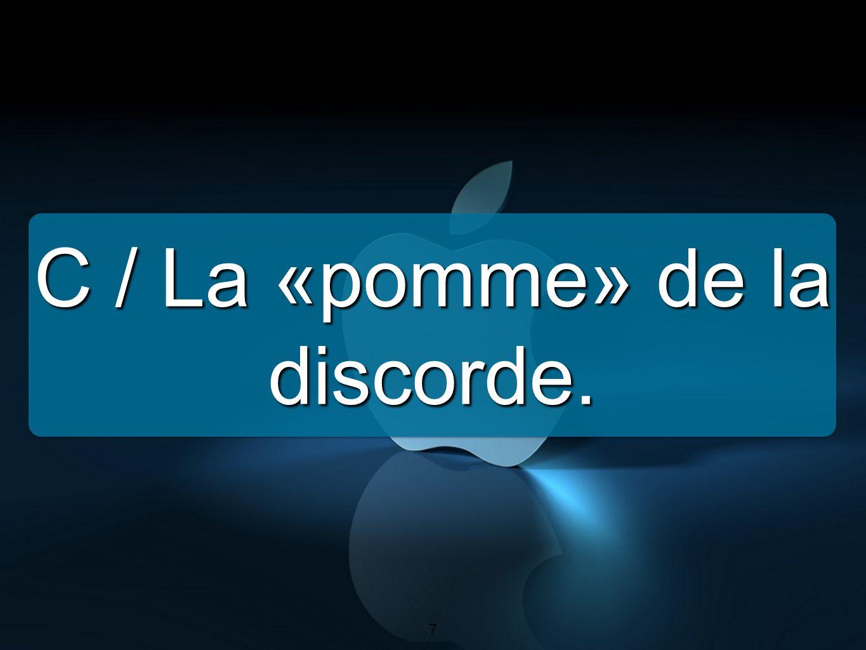 C / La «pomme» de la discorde.