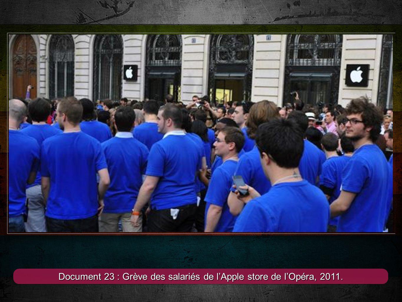 Document 23 : Grève des salariés de l'Apple store de l'Opéra, 2011.