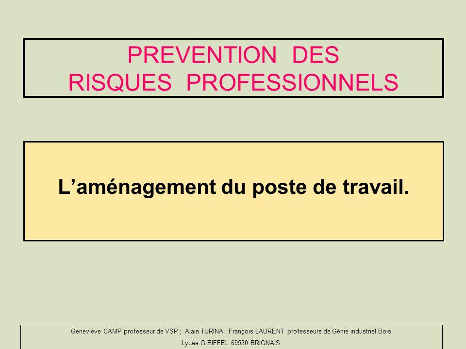 PREVENTION DES RISQUES PROFESSIONNELS