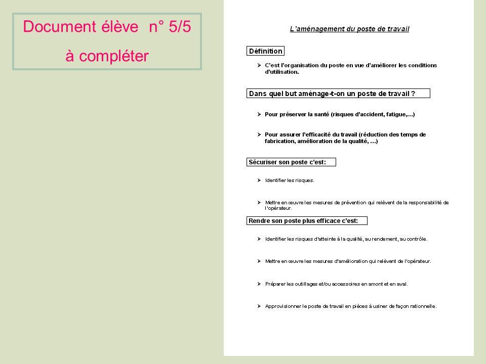 Document élève n° 5/5 à compléter