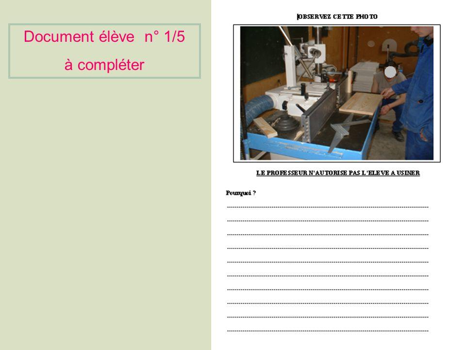 Document élève n° 1/5 à compléter
