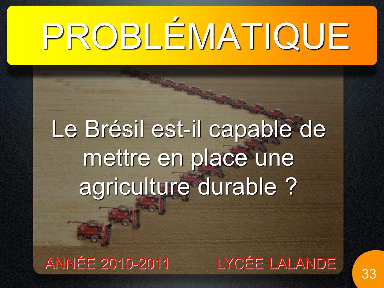 Le Brésil est-il capable de mettre en place une agriculture durable