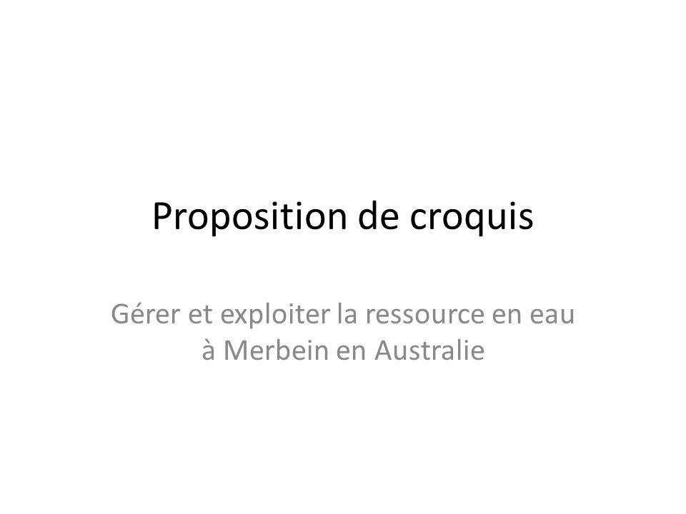 Proposition de croquis