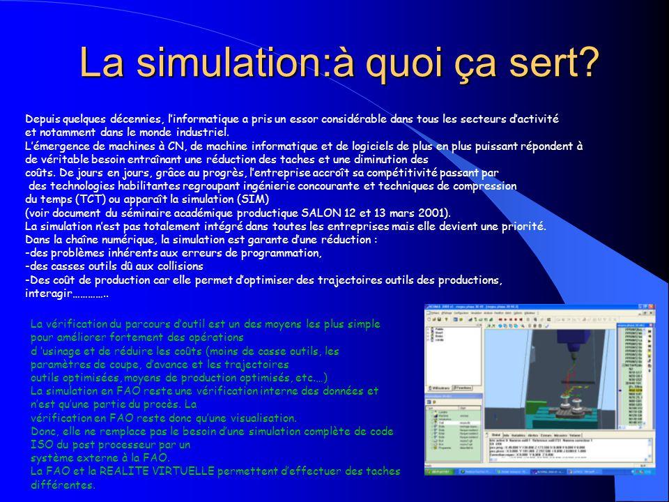 La simulation:à quoi ça sert