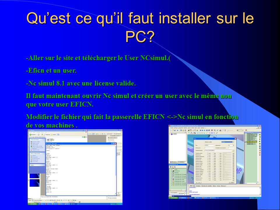 Qu'est ce qu'il faut installer sur le PC
