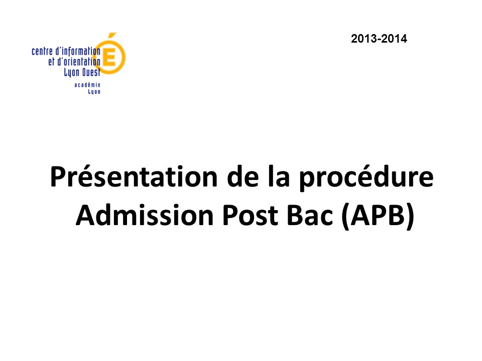 Admission Post Bac (APB)