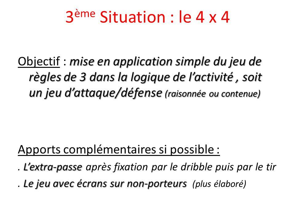 3ème Situation : le 4 x 4