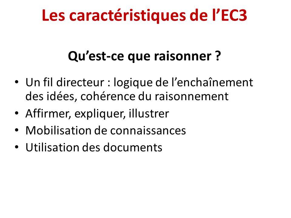 Les caractéristiques de l'EC3 Qu'est-ce que raisonner