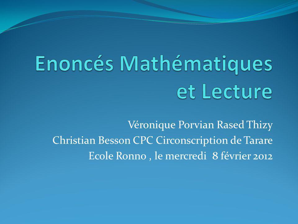 Enoncés Mathématiques et Lecture