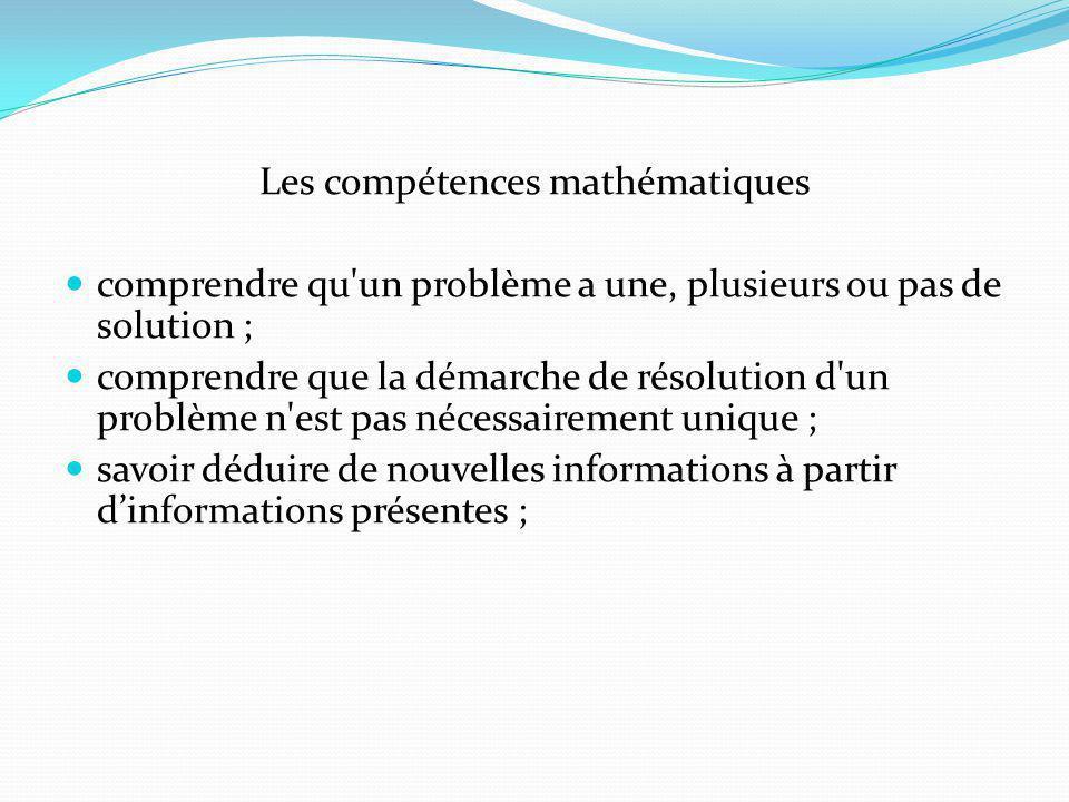 Les compétences mathématiques