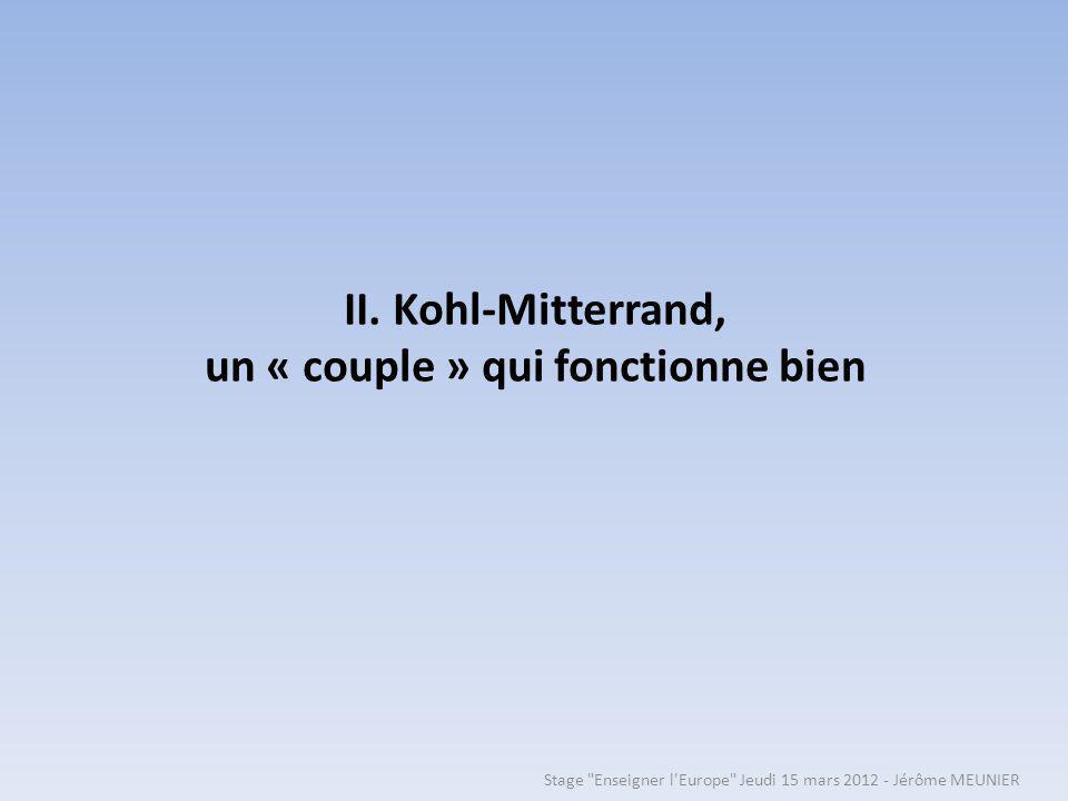 II. Kohl-Mitterrand, un « couple » qui fonctionne bien