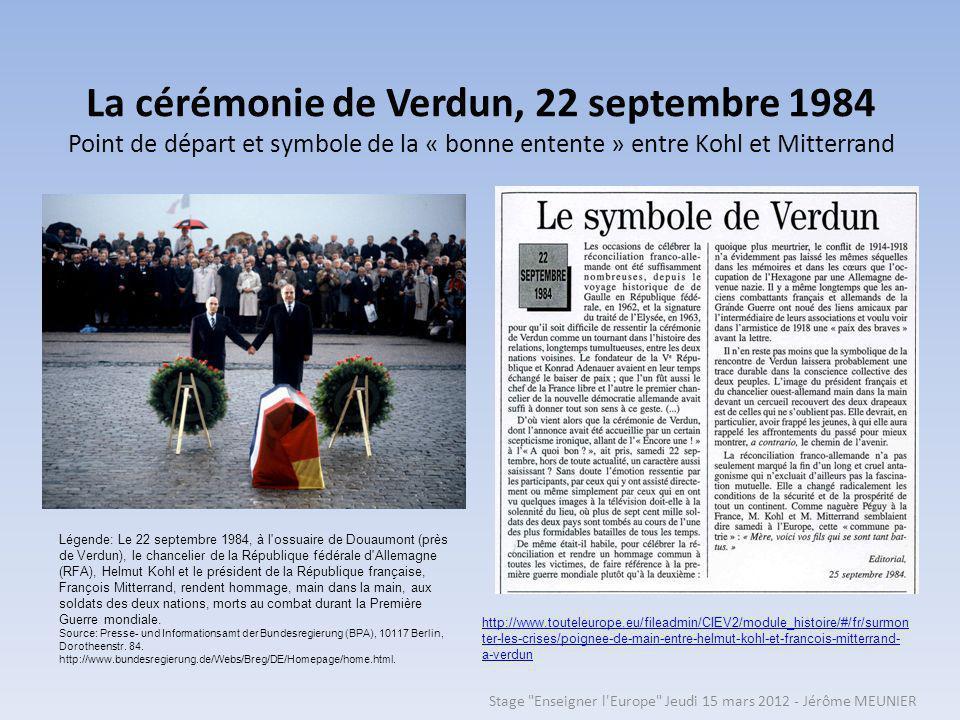 La cérémonie de Verdun, 22 septembre 1984