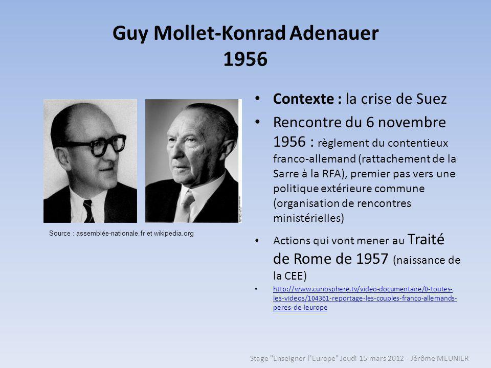 Guy Mollet-Konrad Adenauer 1956