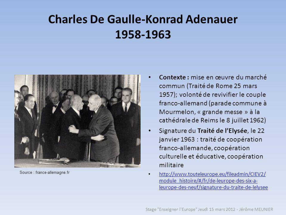 Charles De Gaulle-Konrad Adenauer 1958-1963