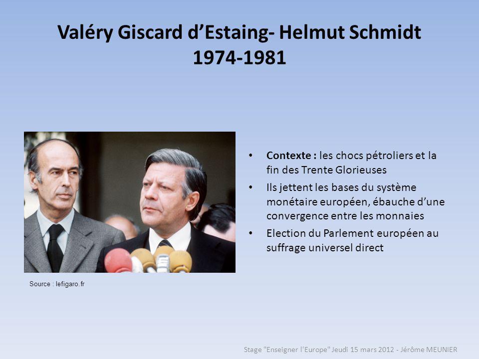 Valéry Giscard d'Estaing- Helmut Schmidt 1974-1981