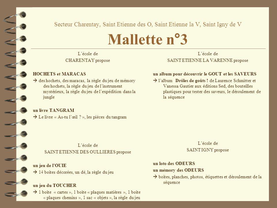 Secteur Charentay, Saint Etienne des O, Saint Etienne la V, Saint Igny de V Mallette n°3