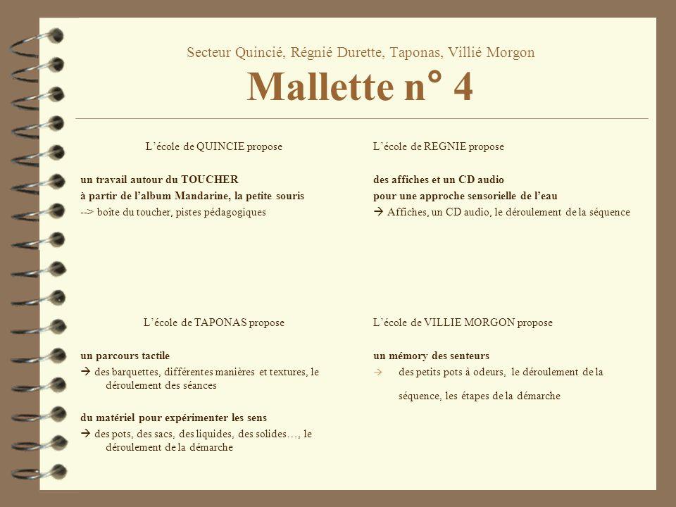 Secteur Quincié, Régnié Durette, Taponas, Villié Morgon Mallette n° 4