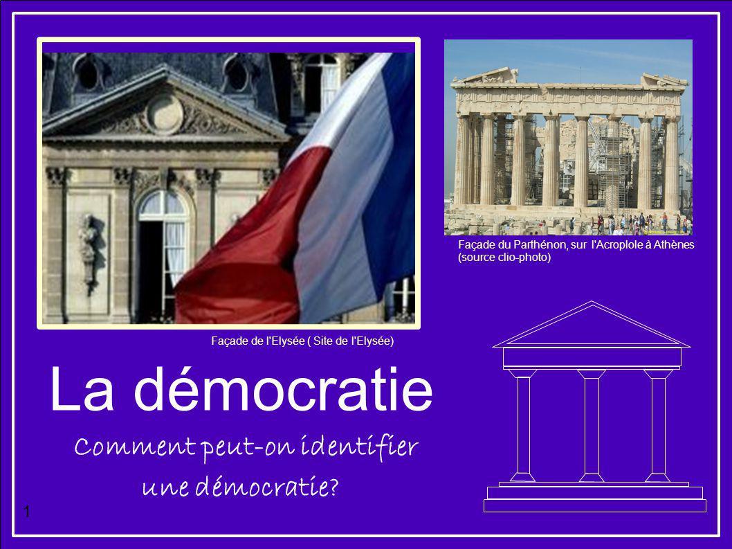 Comment peut-on identifier une démocratie
