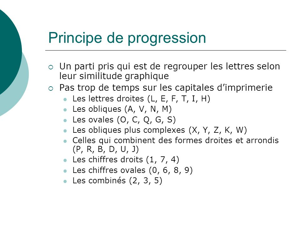 Principe de progression