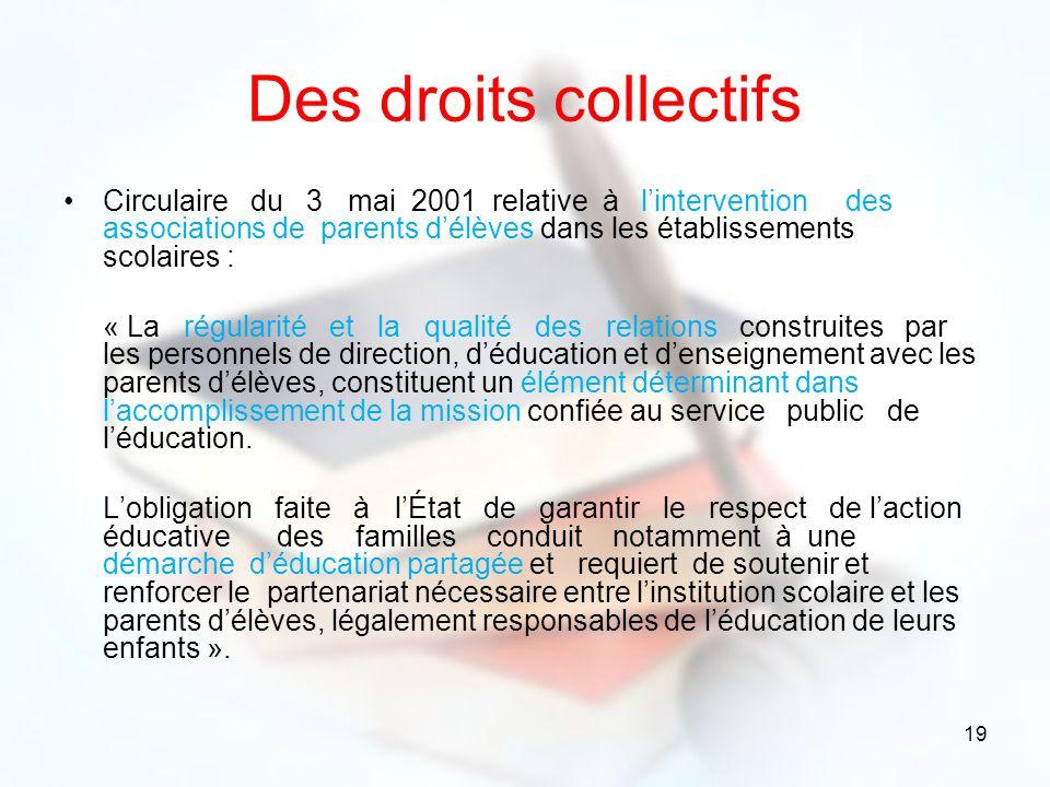 Des droits collectifs
