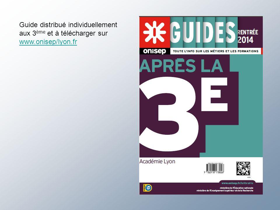 Guide distribué individuellement aux 3ème et à télécharger sur