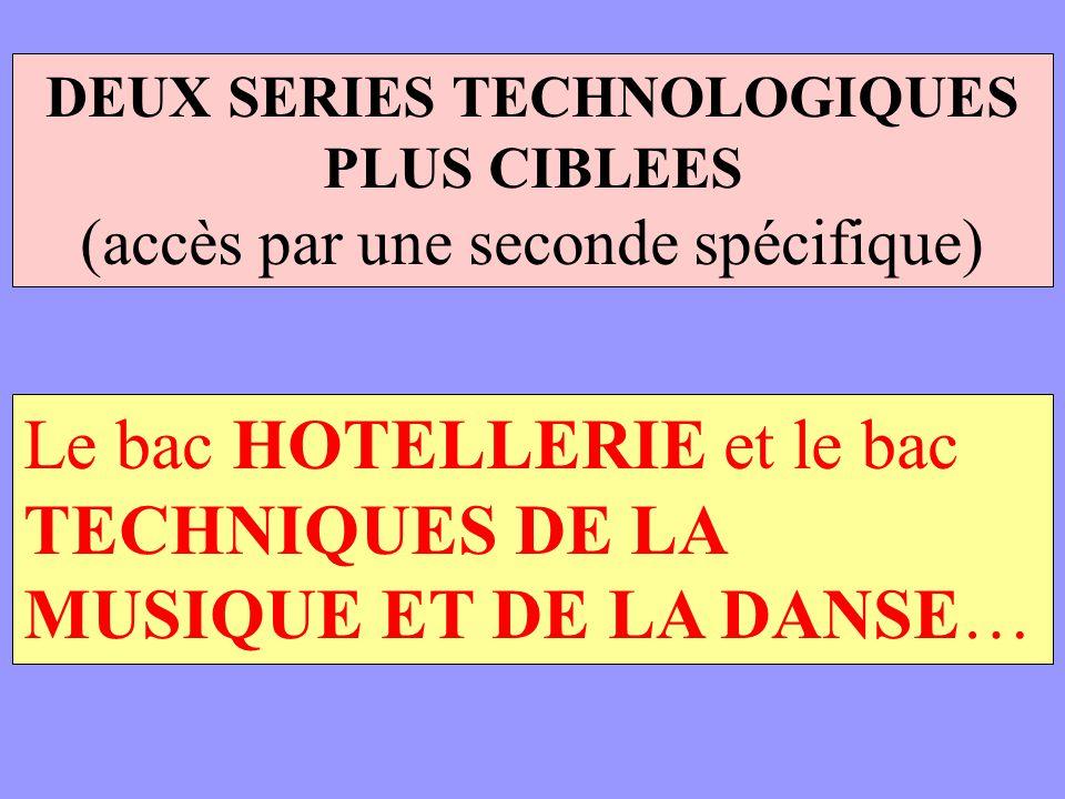 DEUX SERIES TECHNOLOGIQUES PLUS CIBLEES