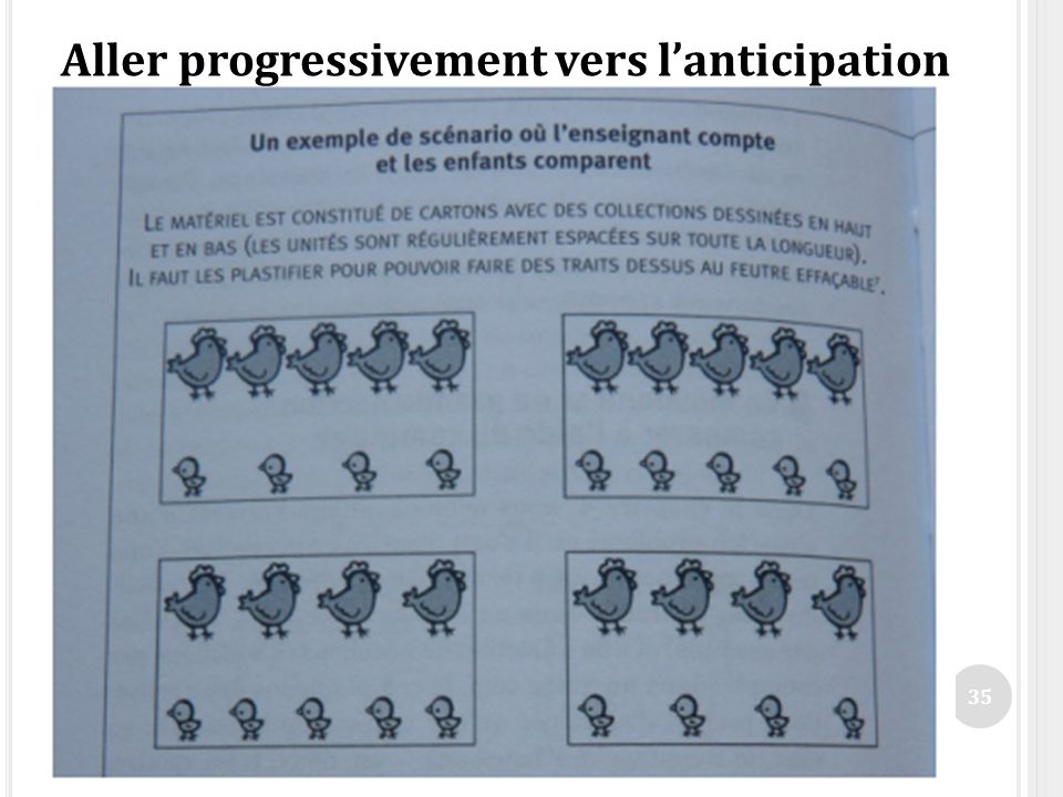 Aller progressivement vers l'anticipation