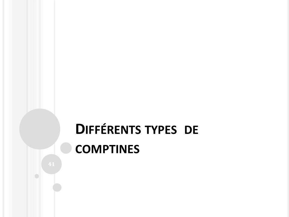 Différents types de comptines