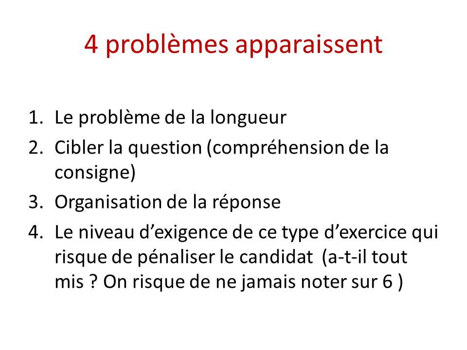 4 problèmes apparaissent
