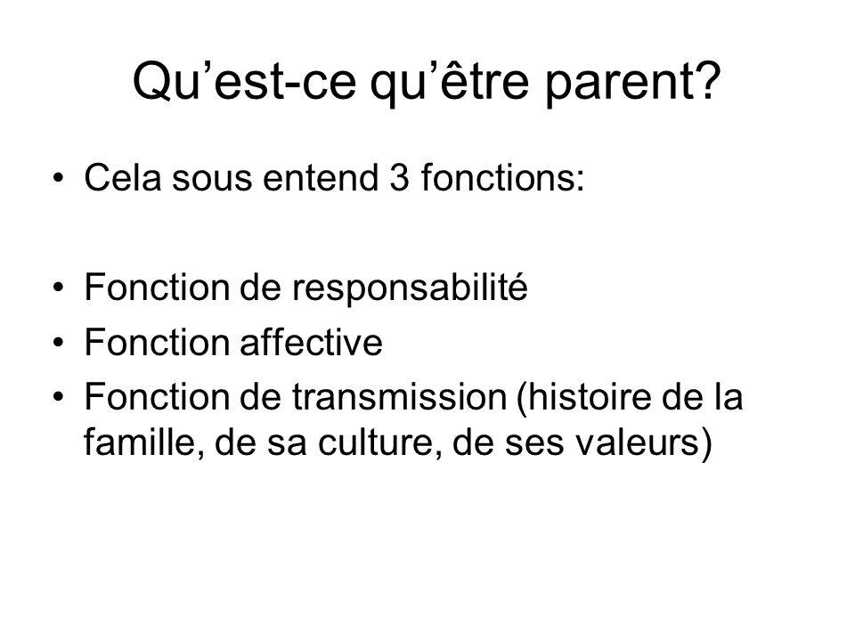 Qu'est-ce qu'être parent