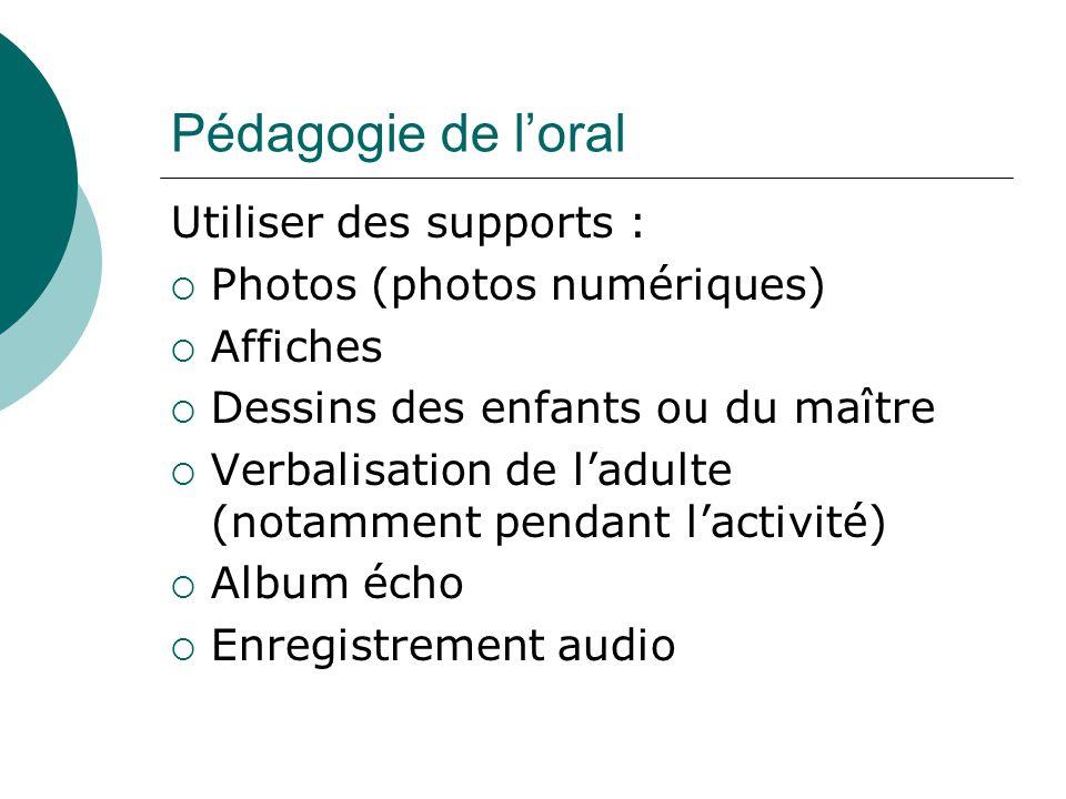 Pédagogie de l'oral Utiliser des supports : Photos (photos numériques)