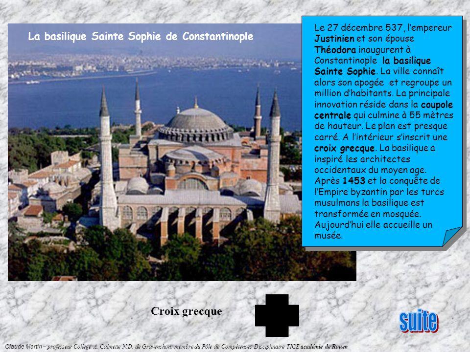 suite Croix grecque La basilique Sainte Sophie de Constantinople