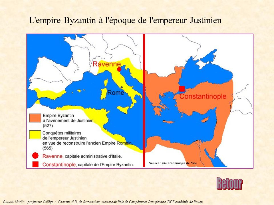 L empire Byzantin à l époque de l empereur Justinien
