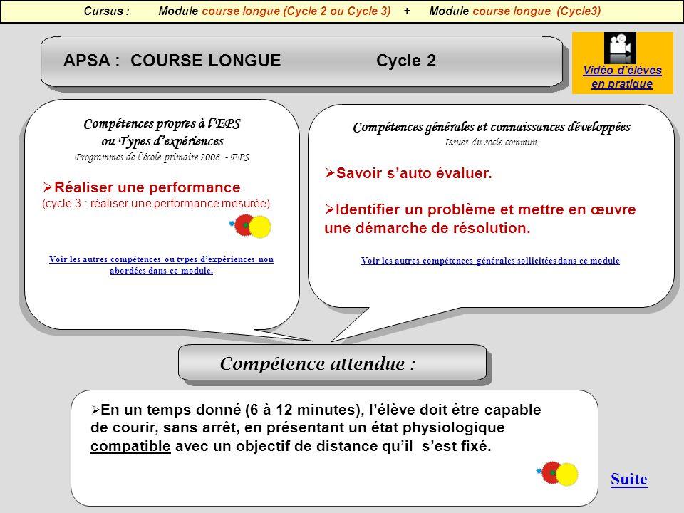 APSA : COURSE LONGUE Cycle 2