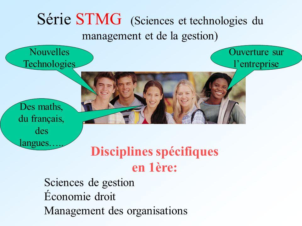 Série STMG (Sciences et technologies du management et de la gestion)