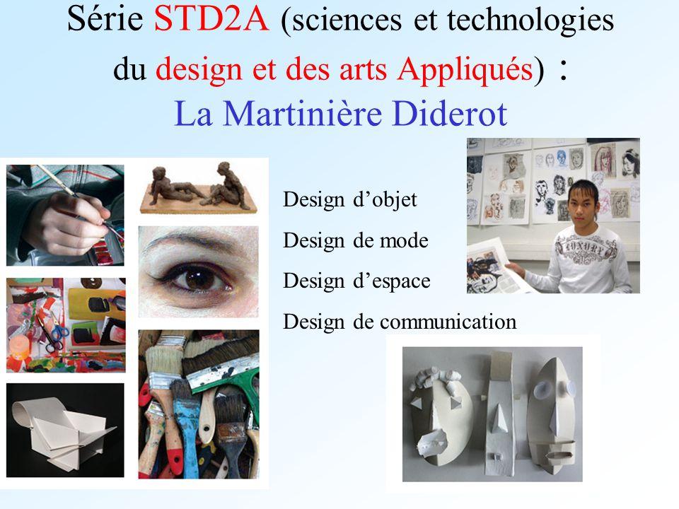 Série STD2A (sciences et technologies du design et des arts Appliqués) : La Martinière Diderot