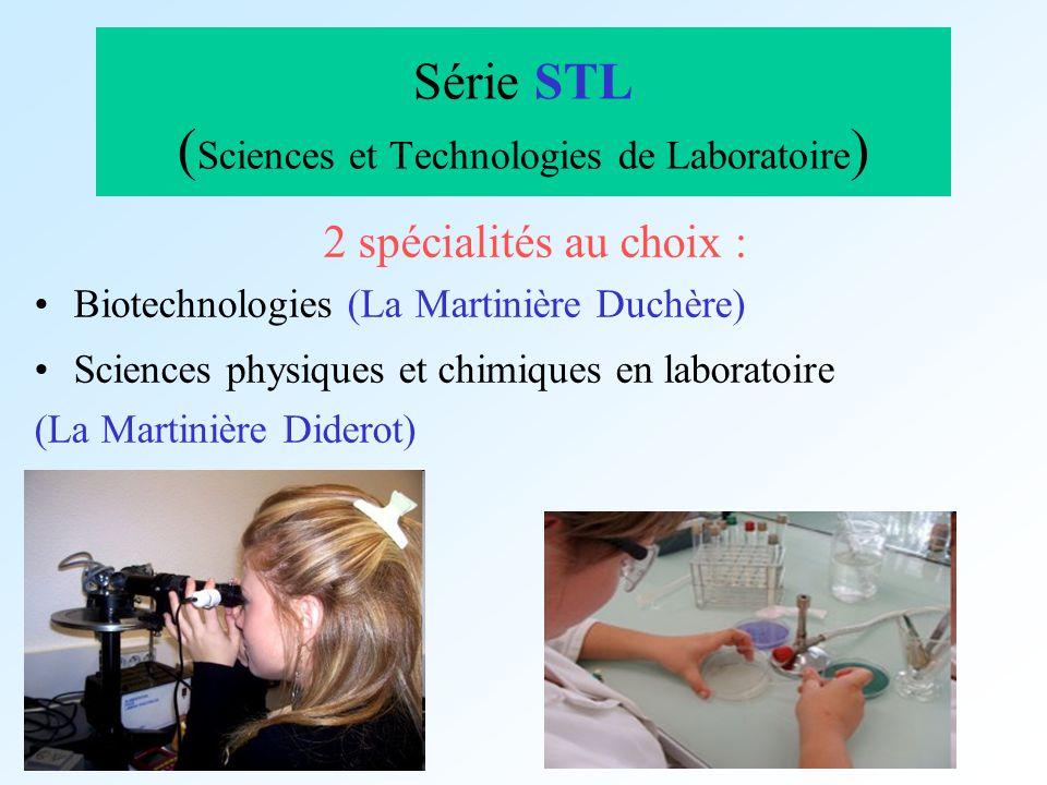 Série STL (Sciences et Technologies de Laboratoire)