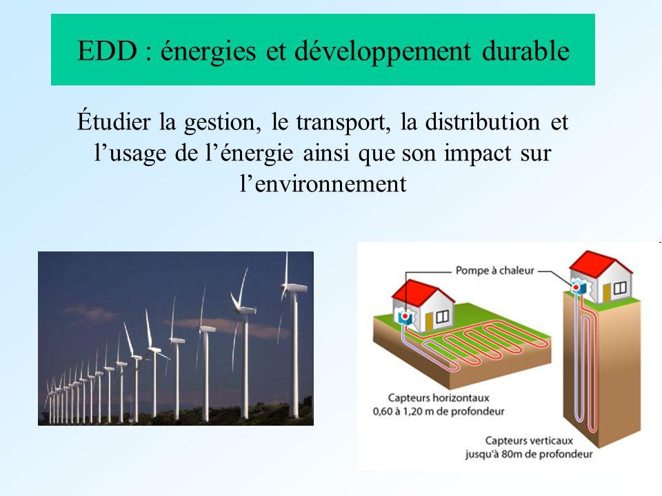 EDD : énergies et développement durable
