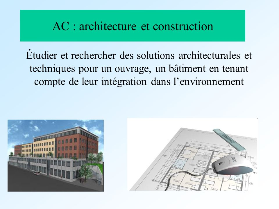 AC : architecture et construction