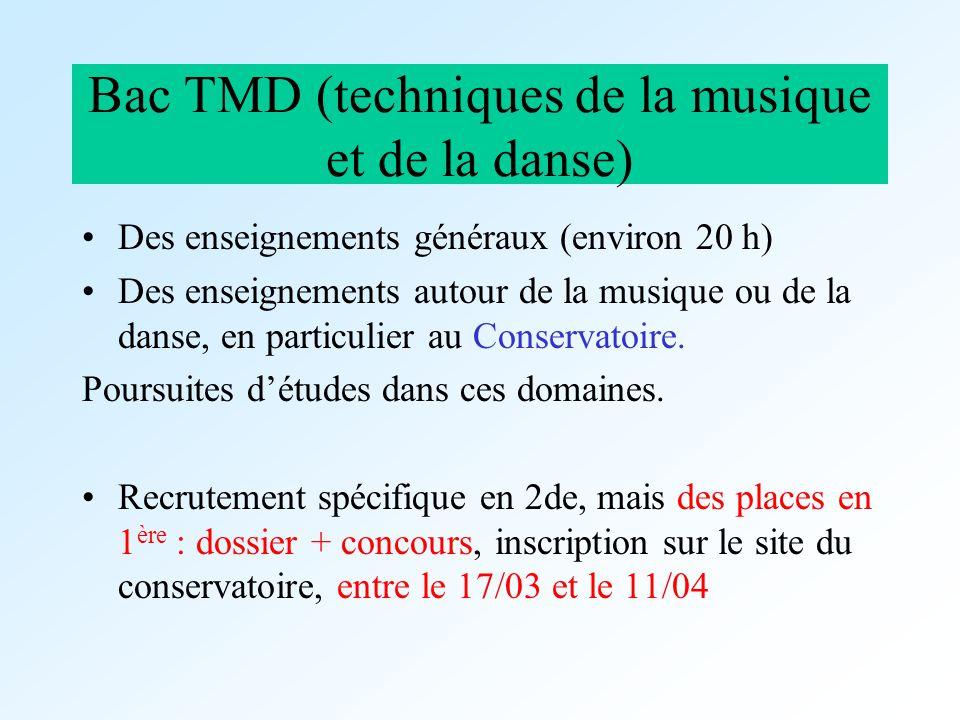 Bac TMD (techniques de la musique et de la danse)