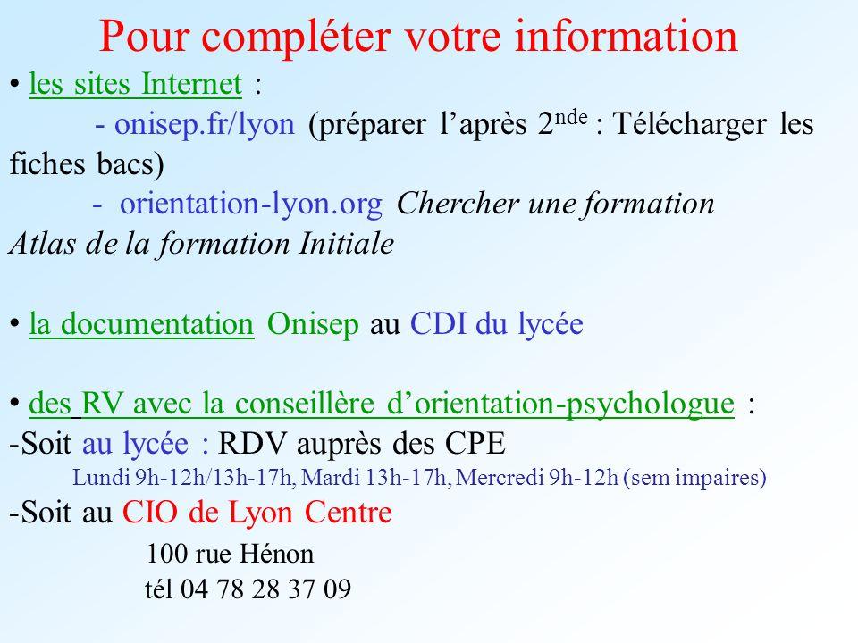 Pour compléter votre information