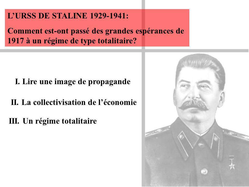 L'URSS DE STALINE 1929-1941: Comment est-ont passé des grandes espérances de 1917 à un régime de type totalitaire