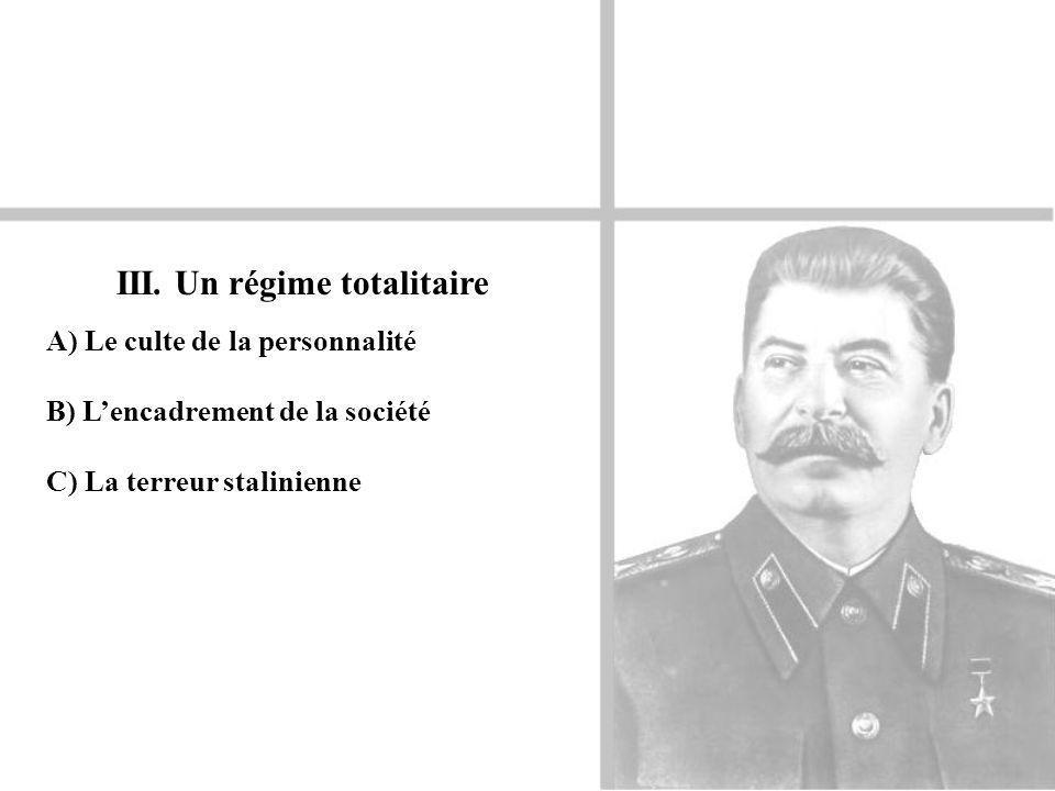 III. Un régime totalitaire