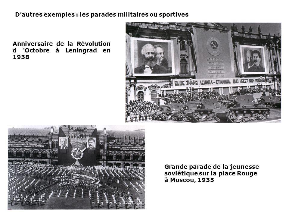 D'autres exemples : les parades militaires ou sportives