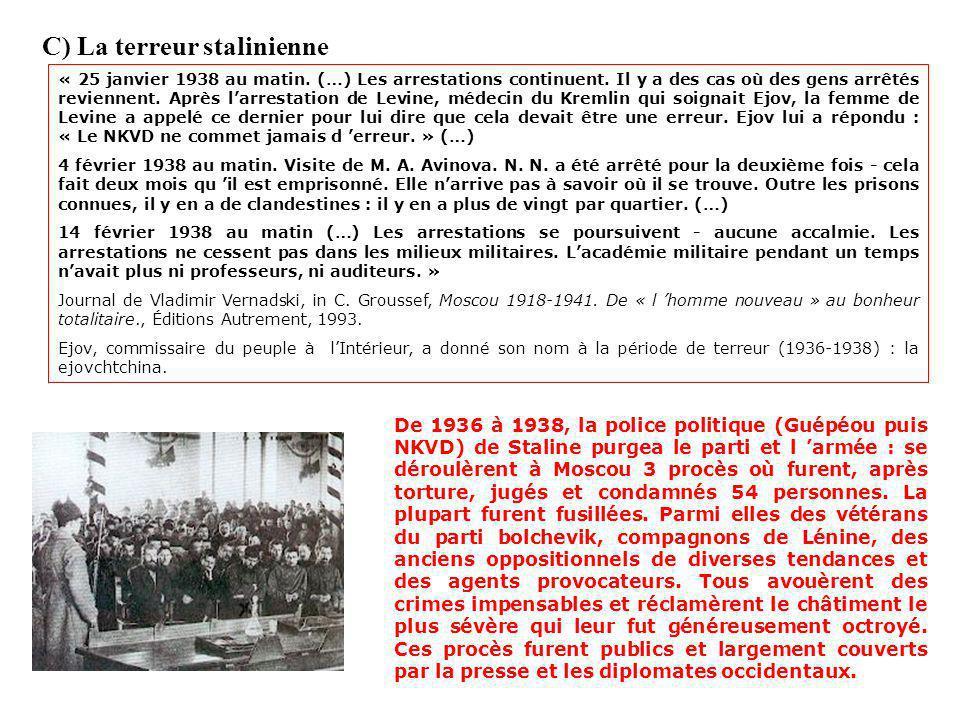 C) La terreur stalinienne