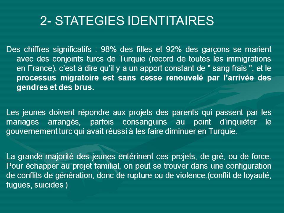 2- STATEGIES IDENTITAIRES
