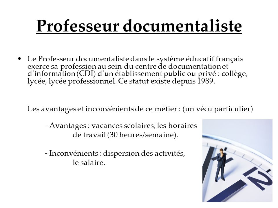 Professeur documentaliste