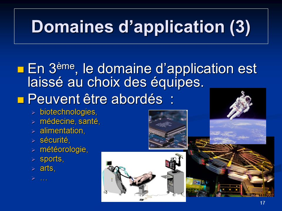 Domaines d'application (3)