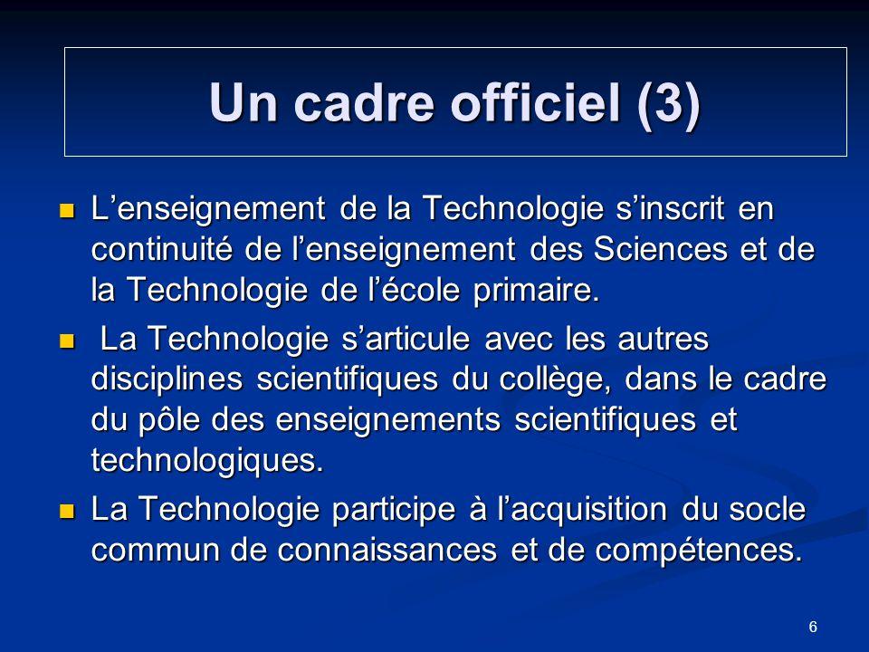 Un cadre officiel (3)