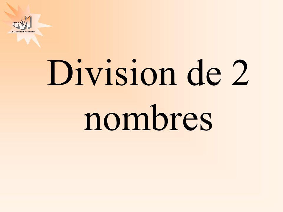 Division de 2 nombres
